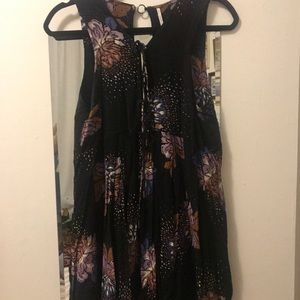 Free People Mini Dress with Tie Front
